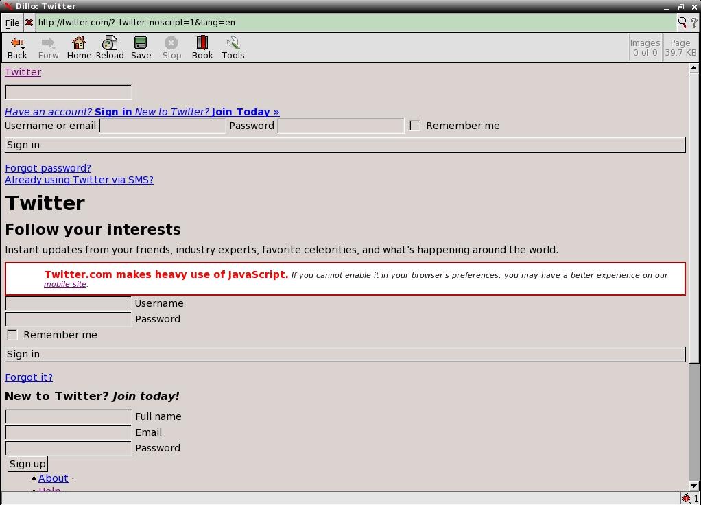 Dillo 2.2.1 - Скриншот 6