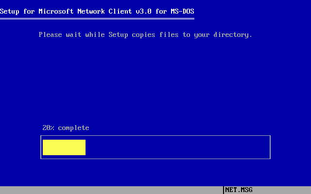 Microsoft Network Client 3.0 installation - Screenshot 10
