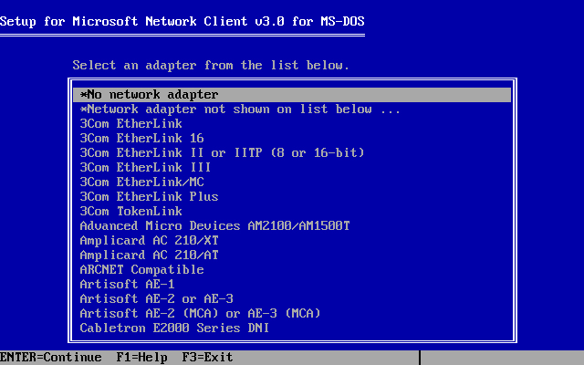 Microsoft Network Client 3.0 installation - Screenshot 4