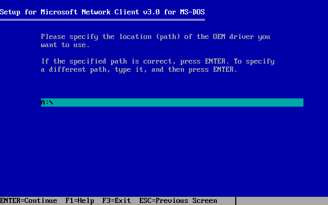 Microsoft Network Client 3.0 installation - Screenshot 5